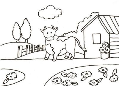 Dibujos gratis para imprimir y colorear de vacas 圖片, 上色