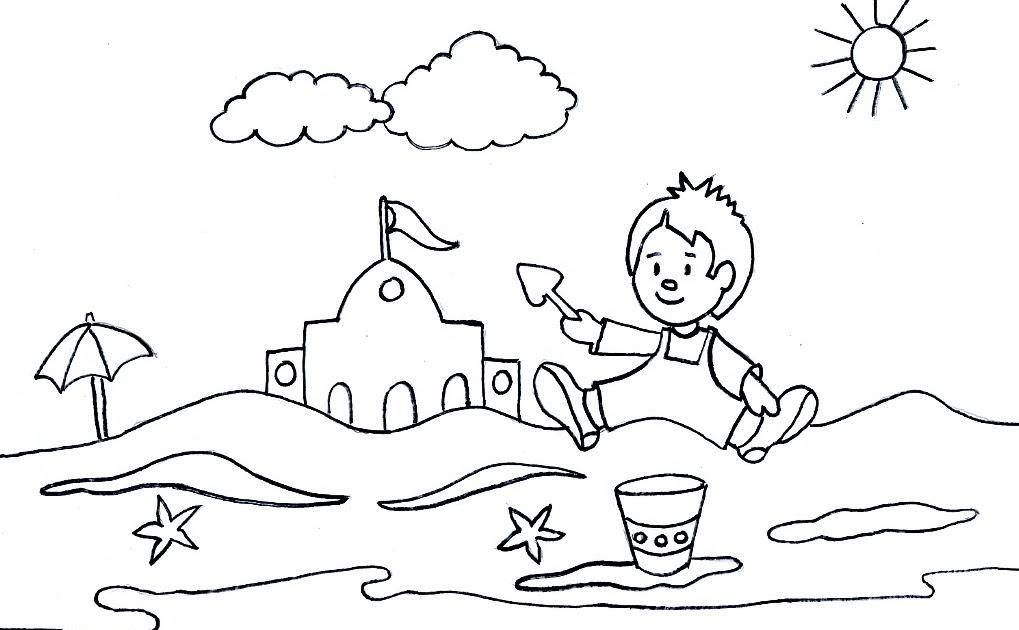 Perfecto Playa Temática Para Colorear Inspiración - Ideas Para ...