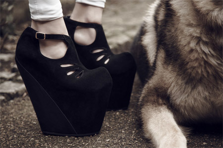 Stylish platform shoes