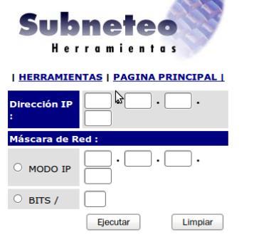 Redes y sistemas de informaci n calculadora de subneteo for Calculadora de redes