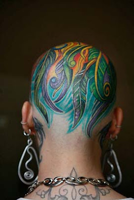 Unique Head Tattoo Design