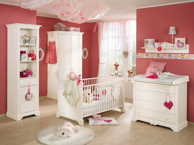 White and Wood Baby Nursery Furniture Sets 5