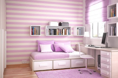 Exotic Violet Bedroom Interior Design Ideas