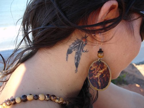 Small Tribal Neck Tattoo Gallery 9 Small Tribal Neck Tattoo Gallery