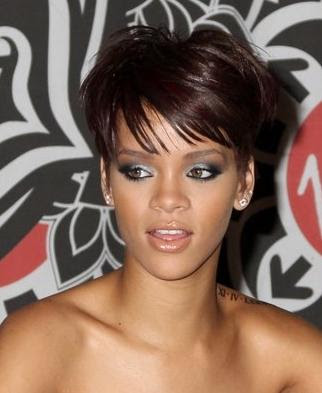 Rihanna Short Hairstyles With Bangs