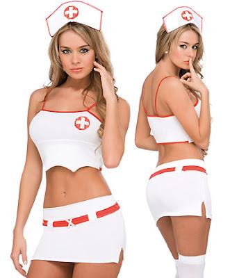 Enfermeira mini saia