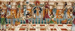 Fiesta en el palacio para el faraón