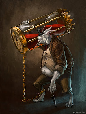 white rabbit tattoo. Evil white rabbit puppet