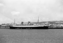 NIEUW AMSTERDAM in Lisbon 1955