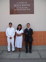 Elder Morton in front of his Ward in Lima