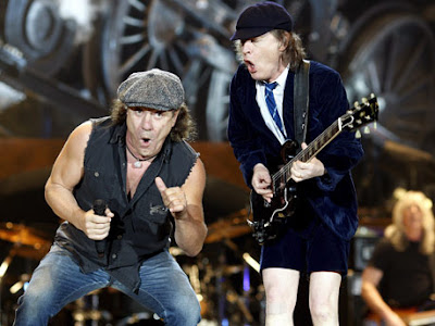 Brian Johnson Angus Young AC/DC Black Ice Tour