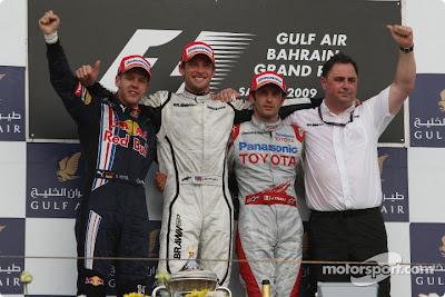 Podio Bahrein 2009