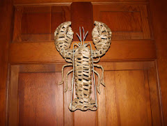 Lobster on the Door to Kitchen