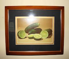 Fun Kitchen Art- Limes in a zucchini