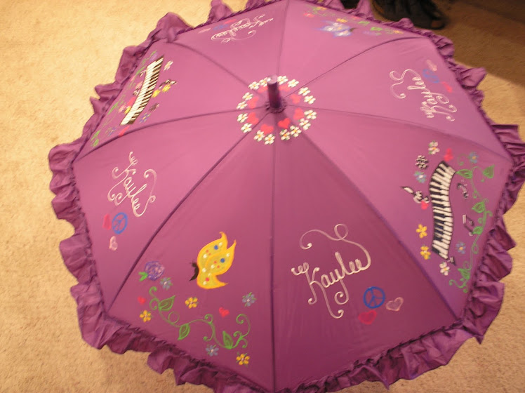 puple piano keys umbrella
