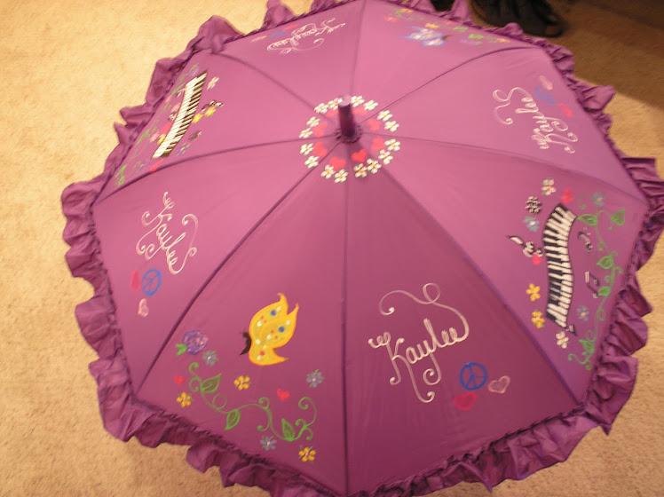 puple piano keys umbrella