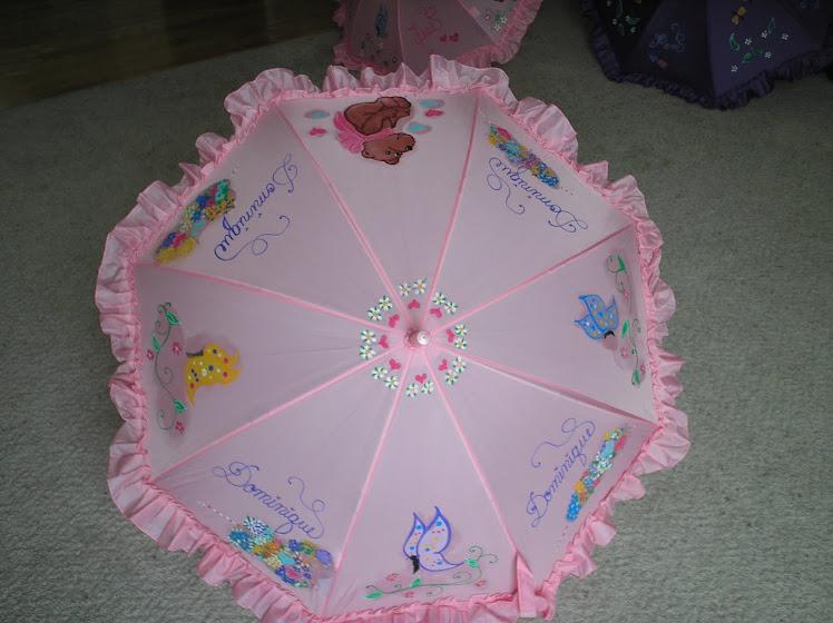pink teddy bear umbrella