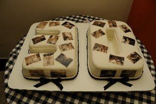 Juliana costa bolos personalizados bolo para aniversrio de 30 anos para 60 pessoas massa branca e de chocolaterecheio de brigadeiro branco e preto fotos da aniversariante foram altavistaventures Gallery