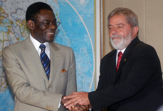 WITH PRESIDENT LULA OF BRASIL