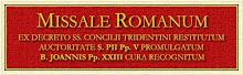 Missale Romanum