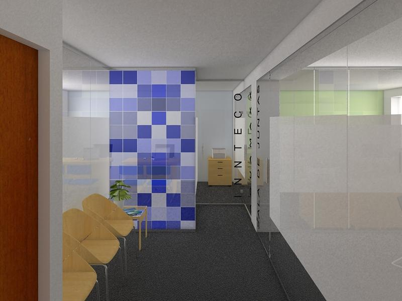 Portafolio dise o de interiores proyecto oficina innteco - Proyecto diseno de interiores ...