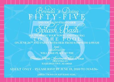55th Birthday Party Invitations