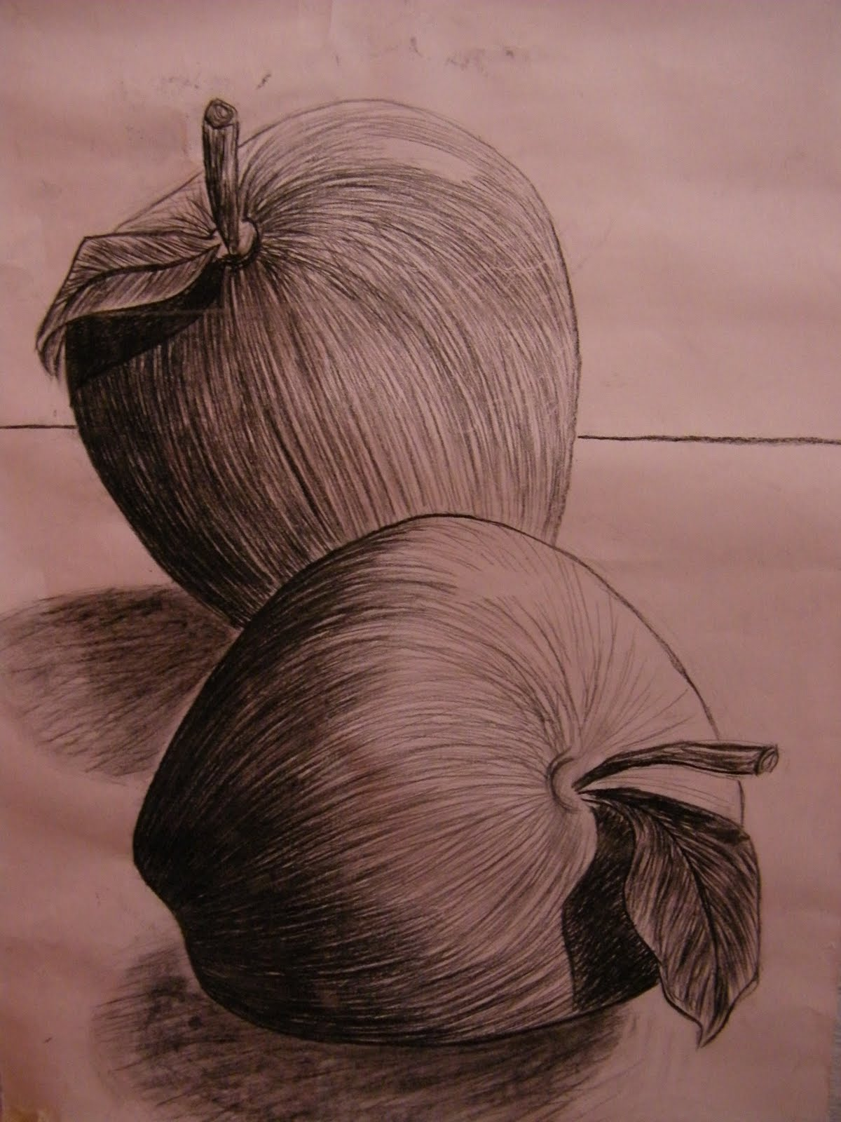 Actividades Artes Visuales 1 medio Dibujo luz y sombra manzanas