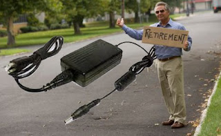 laptop charger, retirement age