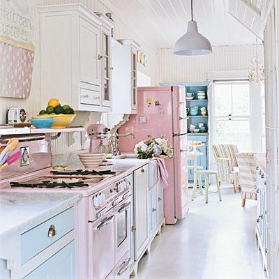 Colores para Decorar: Como combinar el color rosa en cocinas