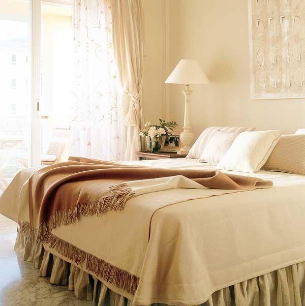 Colores para decorar estancias monocrom ticas en beige - Dormitorio beige ...