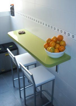 Colores para decorar ideas mesas abatibles para cocinas for Mesa abatible pared cocina