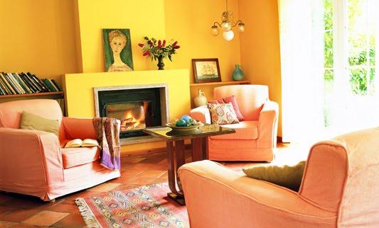 Colores para decorar con que colores combina una pared amarilla para salones - Colores para paredes de salon ...