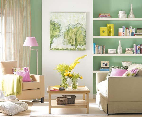 Colores para decorar como combina pared verde sal n - Paredes en verde ...
