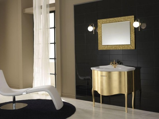 Colores para decorar ba os dorados un lujazo for Banos en blanco y beige