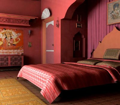Colores para decorar dormitorios de inspiraci n oriental for Normal indian bedroom designs