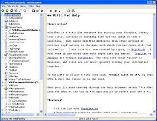 WikidPad - личный wiki блокнот