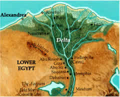 Where is the mouth of the Nile river located city, country ...