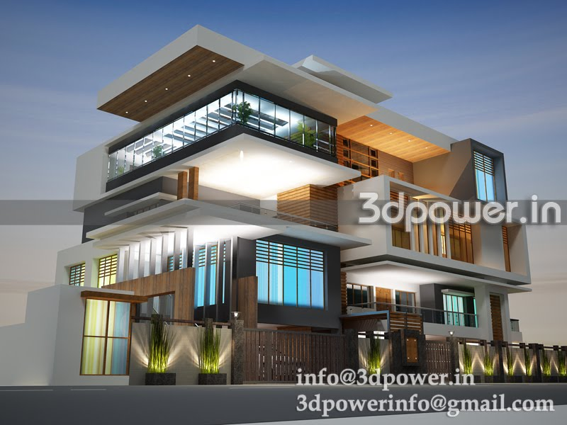 ... 3d interior, cut section, photomontage in india: 3d bungalow_new