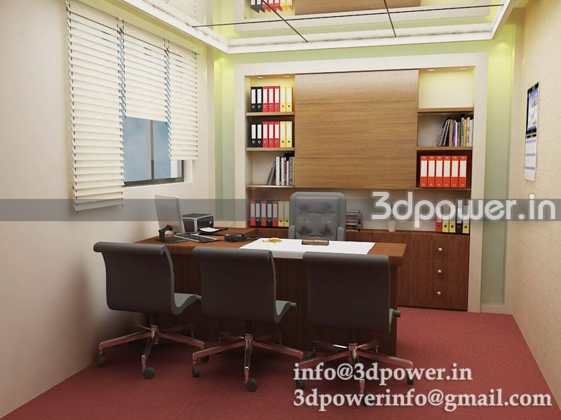 Small office room interior design for Small office cabin interior design ideas