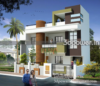 """architectural rendering with contemporary design"""