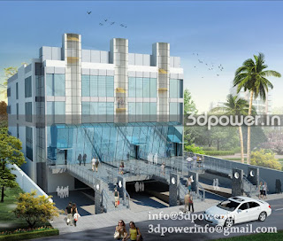 """3d rendering exterior corporate office"""