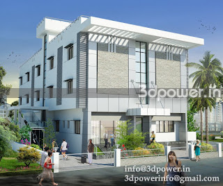 """3d rendering exterior private office"""