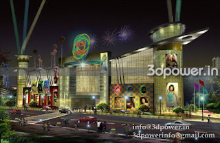 3d design of shopping mall, elevation shopping mall