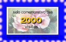 Selo comemorativo das 2000 visitas do blog Álvaro Oliveira