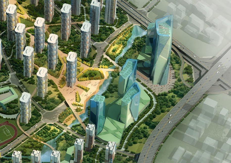 Blua master design planning of wuli district cooperate for Hispano international decor llc
