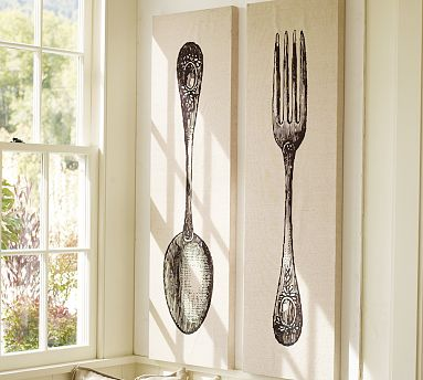 So Pottery Barn Has This Cool Fork And Spoon Wall Art Set. I Love It. I Do  Not Love So Much The Price Tag: $279 Plus U002630 For Shipping. Ouch.