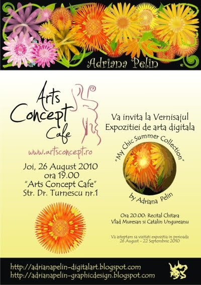 "VERNISAJ EXPOZITIE ""My Chic Summer Collection"" la ARTS CONCEPT CAFE"