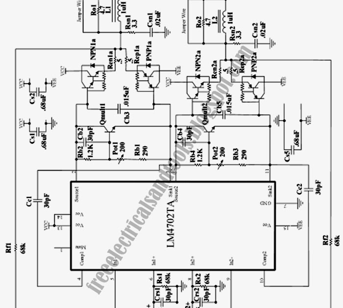circuit wiring  high fidelity stereo power amplifier circuit