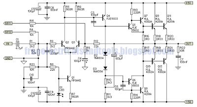 only wiring and diagram 300w subwoofer power amplifier circuit rh markdiagram blogspot com Powered Subwoofer Schematics Schematic of a Simple Subwoofer Circuit 4 Ohm 3 Watt
