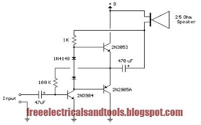 3 transistor audio amplifier circuit for 80 mw circuit book free rh circuitfee blogspot com 3 transistor audio amp 3 transistor audio amplifier circuit